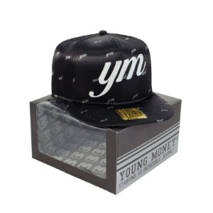 BONE ABA RETA YOUNG MONEY SNAPBACK SATIN BLACK