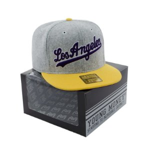 BONE ABA RETA YOUNG MONEY SNAPBACK LOS ANGELES VELUDO