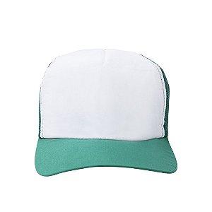 Boné Branco C/ Tela E Aba Colorido Mod. Americano 1un verde