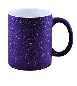 Caneca Mágica em Cerâmica para Sublimação - Azul Glitter Colorido (Muda de Cor)
