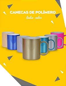 CANECA DE POLÍMERO COLOR - OURO PEROLIZADO P/ SUBLIMAÇÃO