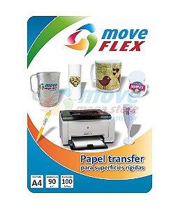 Papel Transfer Laser 120gr MoveFlex - Pct 100 Folhas A-4