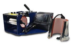 Prensa Térmica Para Caneca 2X1 PREMIUM 220V (Canecas,Squeezes,Vidro,Alumínio etc...) 1 Ano de Garantia