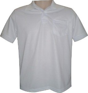 Camisa Polo Sublimática em Piquet 100% Poliester M