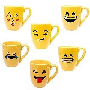Caneca Emoji 325ml Feliz - Unidade