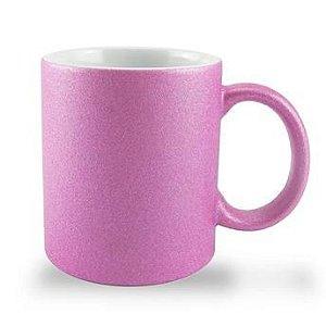 Caneca P/Sublimação Glitter Pink