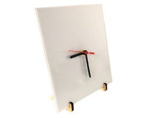 Azulejo 20x20 Resinado, Acompanha Relógio com Ponteiros e Pezinhos