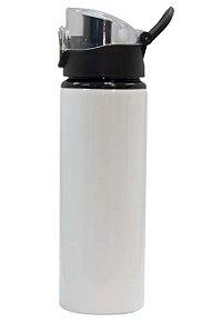 Squeeze Branco com tampa transparente de Alumínio  para Sublimação - 750ML - LIVE