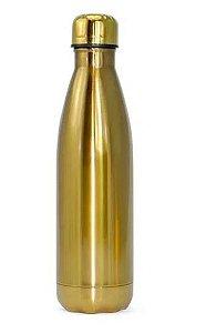 Garrafa Térmica para Sublimação em Aço Inox Dourada com Parede Dupla - 500ml