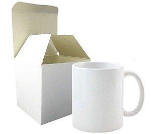 Caneca para Sublimação Cerâmica Branca 11oz ( Padrão) - Com Caixinha 1UN