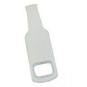 Abridor De Garrafa Formato Garrafa Em Polímero P/ Sublimação - Branco PCT 2un