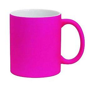 Caneca para Sublimação de Cerâmica Neon Fosca Pink
