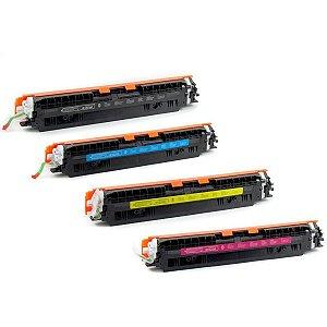 Kit 4 Toner 126A 130A para Impressora HP CP1025 CP1025nw CP1020 M175a M175nw M176n M177fw M275nw