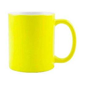 Caneca para Sublimação de Cerâmica Neon Fosca Amarela