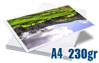 PAPEL FOTOGRÁFICO GLOSSY BRILHANTE DUPLA FACE | 230G TAMANHO A4 | PACOTE COM 20 FOLHAS