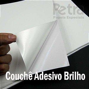 PAPEL COUCHÊ ADESIVO BRILHO A4 - 20 FOLHAS 186gr