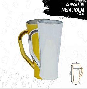 CANECA SLIN METALIZADA 400 ml