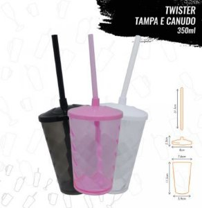 MINI TWISTER TAMPA E CANUDO 350ml