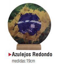 AZULEJO CÊRAMICA REDONDO BRANCO - 19 cm diâmetro