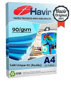 Papel  Sublimatico Havir Unique A4 90g (Azulão) - Pct 50 Fls