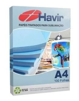 PAPEL SUBLIMATICO HAVIR UNIQUE A4 90g (Azulão) - Pct 100 Fls