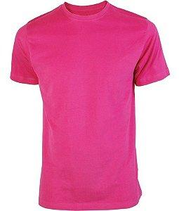 Camiseta Poliester Rosa Pink Sublimatica - Adulta
