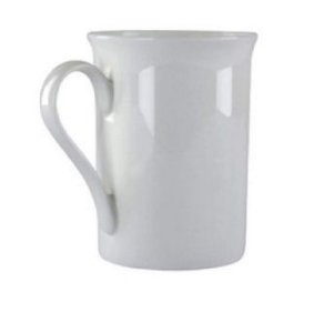 CANECA DE PORCELANA BRANCA 295ML MOD CHINA CAN