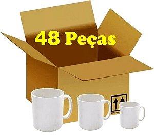 CX 48 CANECAS BRANCAS METALNOX PREMIUM CLASSE AAA P/ SUBLIMAÇÃO