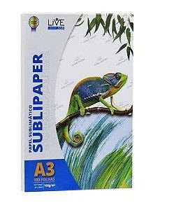 Papel para Sublimação LIVE A3 100g - 100 Folhas - 1 - Pacote