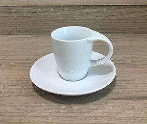 Xícara de café Cêramica cônica branca para sublimação - 88ml
