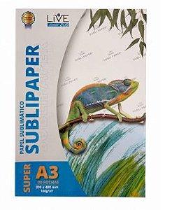 Papel para Sublimação LIVE Super A3 (33x48)100g - 100 Folhas - 1 - Pacote