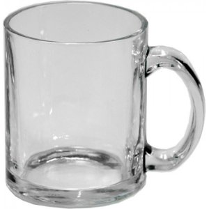 Caneca de Vidro Cristal para Sublimação - 300ml