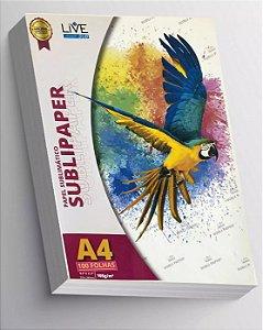 PAPEL SUBLIMÁTICO IMPORTADO SUBLIPAPER LIVE A-4 500 FOLHAS