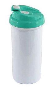 Squeeze de Plástico Branco para Sublimação com Tampa Tiffany - 475ml