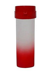 Garrafa Acqua Bio Degradê Vermelho Tampa Vermelho