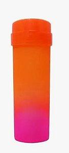 Garrafa Acqua Bio Bicolor Laranja com Pink Degradê com Tampa Laranja