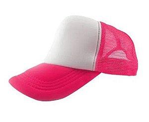 Boné de Tela com a Frente Branca para Sublimação Livesub - Pink
