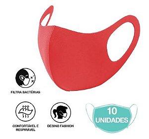10 Máscara Facial Neoprene Adulto - Vermelha