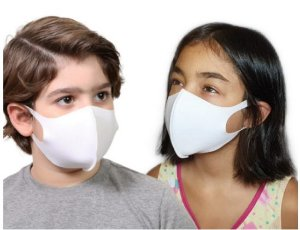 Máscara Facial Neoprene Infantil - Branco
