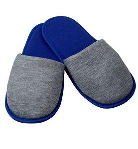 Pantufa para Sublimação Azul / Cinza - Adulto