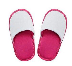 Pantufa para Sublimação Rosa / Branco - Infantil