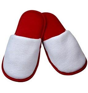 Pantufa para Sublimação Vermelho / Branco - Infantil