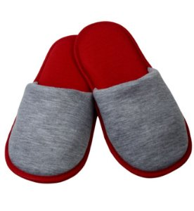 Pantufa para Sublimação Vermelha / Cinza - Infantil