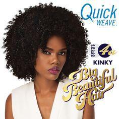 HALF WIG QUICK WEAVE BIG BEAUTIFUL HAIR 4A KINKY (DR27/30)