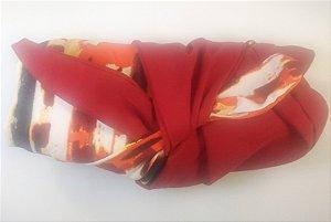 Turbante das Divas - Vermelho com Laranja