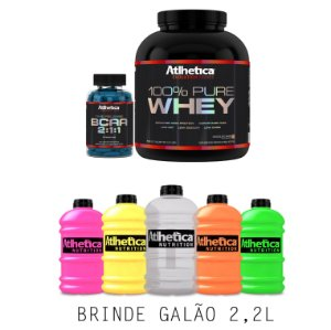 Combo Pure Whey  + BCAA Time Release - Grátis Galão 2,2L