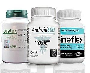 Ciclo Vascularizado 30dias Android 600+ Sineflex + Dilatex