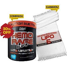 Hemo Rage Black Ultra Concentrado-50 doses Grátis Toalha de Treino