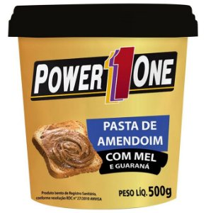 PASTA de AMENDOIM c/  MEL e GUARANÁ (500G) - POWER1ONE