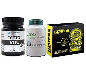 Kit Seco E Vascularizado Kimera + Dilatex + Testovol